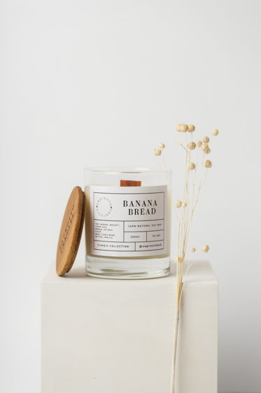 """Соевая свеча в стакане """"BANANA BREAD"""""""