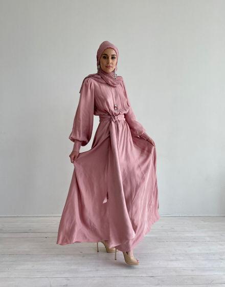 Пудровое женское платье Вискоза 100%