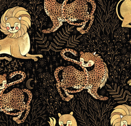 Замшевое худи с капюшоном и карманом с авторским принтом «Lion»