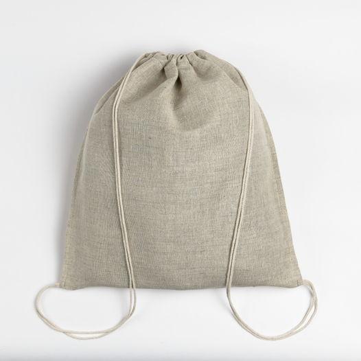 Рюкзак-мешок из серого льна