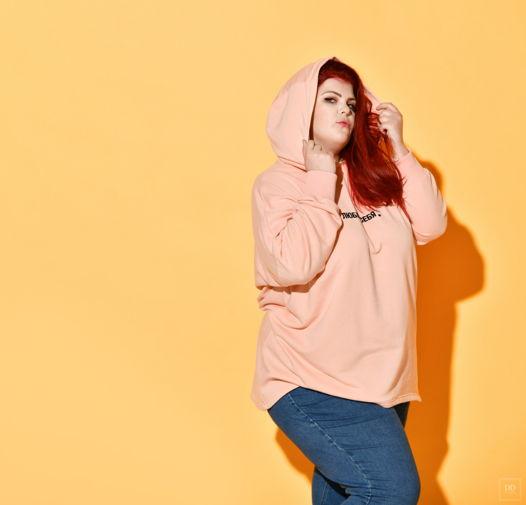 """Толстовка """"Люблю себя"""" в цвете персик, размер 60-68"""