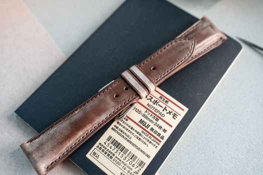 Ремешок для часов с подиумом из натуральной кожи