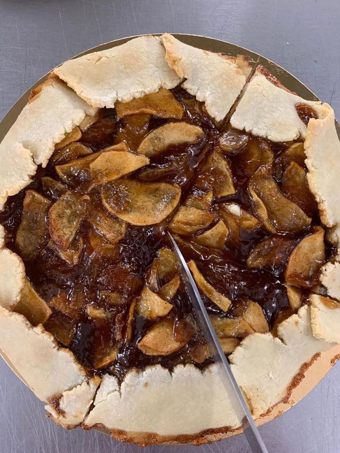 Идеальная пряная  Vegan -галета с яблоками