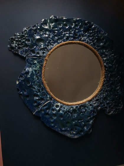 """Зеркало интерьерное керамическое """"Пучина"""""""