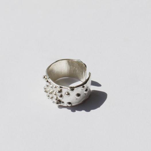 Кольцо из серебра «пузыри»