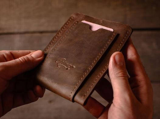 Мини обложка для автодокументов из кожи -DRIFT- цвет Шоколад