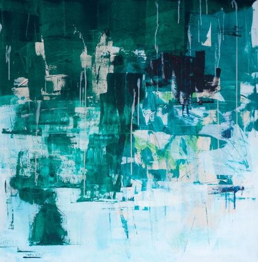 Ундина | Acrylic on Canvas | Undine or Underwater Love | 100*100 Картина, акрил на холсте, абстракция
