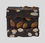 RawVeganCake шоколад ручной работы на меду с миндалем 100гр