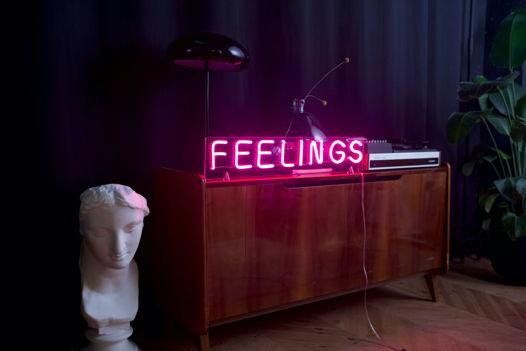 Вывеска из гибкого неона Feelings