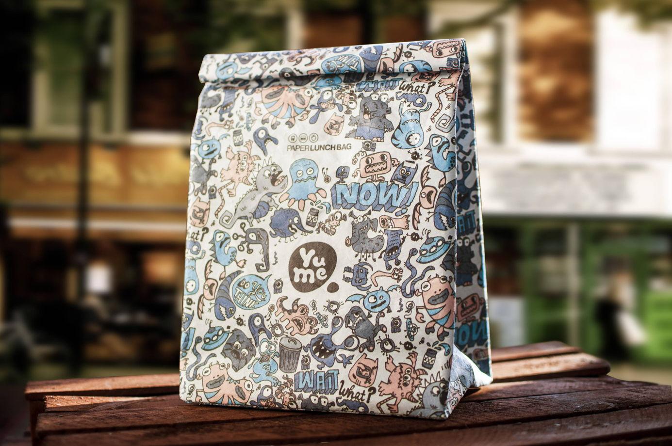 Термосумка Paper Lunch Bag Monsters от YuMe