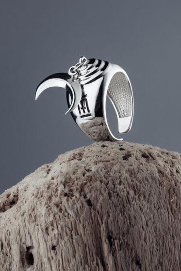 Безразмерное серебряное кольцо La Luna