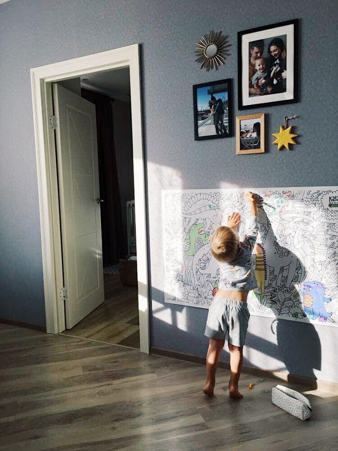 """Раскраска-постер """"Динозавры"""" 120x77см"""