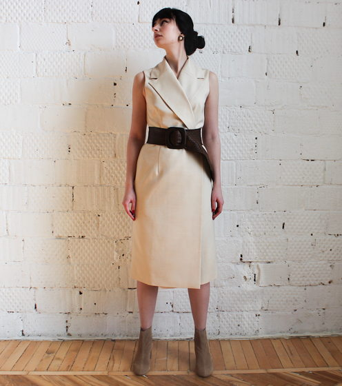 Универсальное платье-жилет в цвете слоновая кость