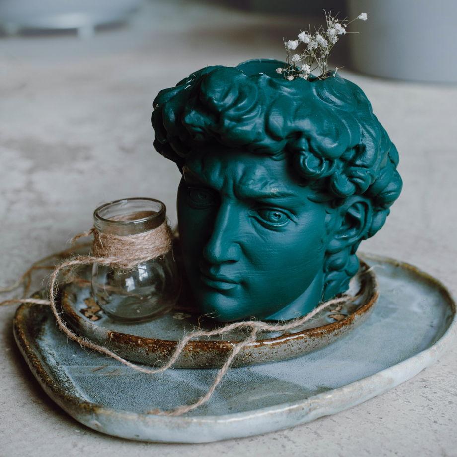 Кашпо Давид в цвете teal