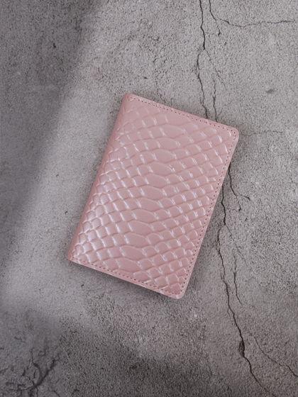"""Обложка для паспорта """"Verona"""" Питон Нежно-розовый"""