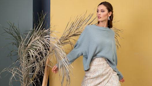 трикотажный свитер из 100% хлопка в размере oversize