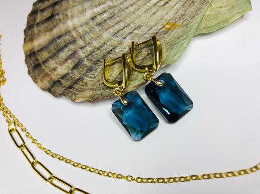 Серьги «Голубой океан»