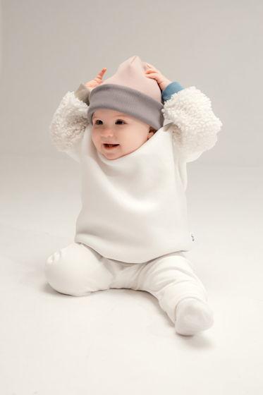 Детский базовый комплект из двухсторонней шапочки и снуда