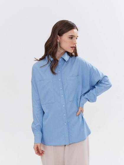 Рубашка голубая оверсайз