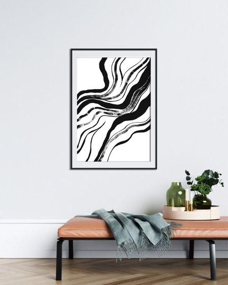 Постер ручной работы, акрил, бумага BLACK 3