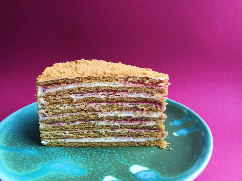 Торт карамельный Медовик