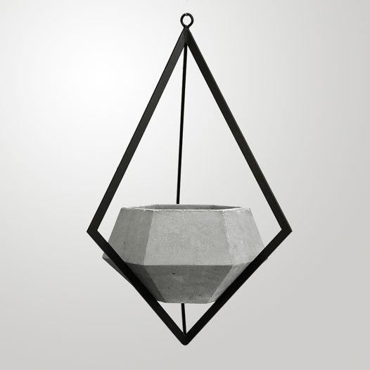 Подвесное кашпо из бетона Ruby
