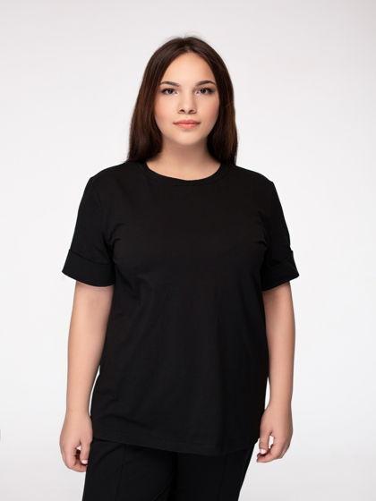 Черная футболка  из премиального трикотажа
