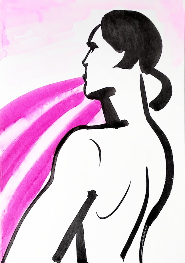 """Графика """"Размышления о великом на розовой пашне"""""""