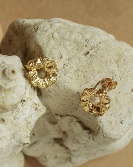 серьги цветочные кораллы