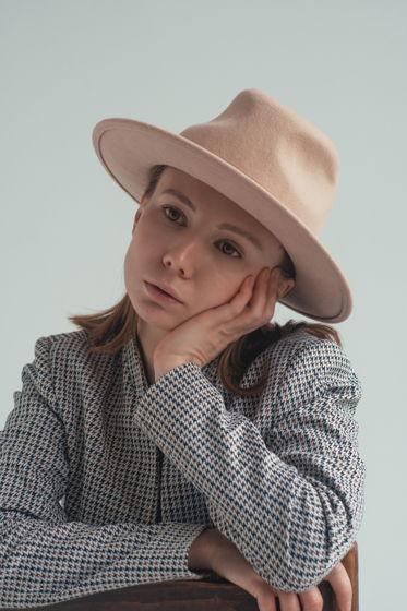 Шляпа Оксфорд из фетра