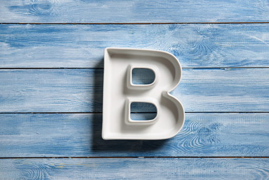 Керамическая буква B