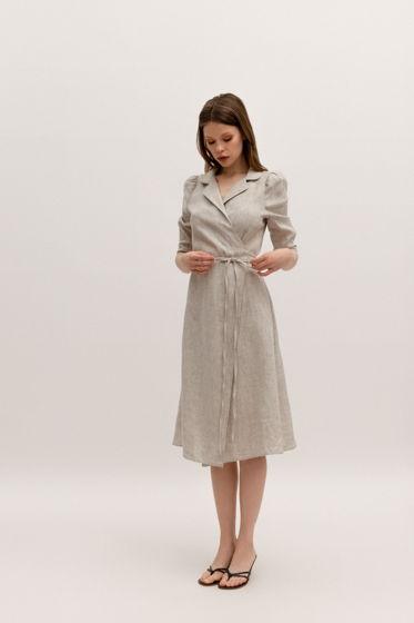 Льняное платье на запах