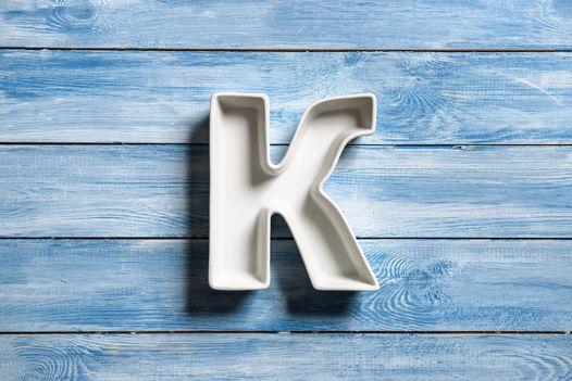 Керамическая буква K