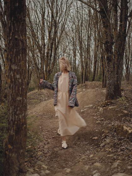 """Платье """"Облако"""" из натуральной органзы нежно-желтое"""