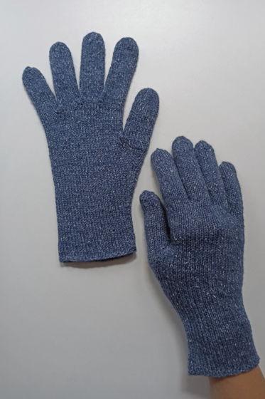 Джинсовые перчатки ручной работы
