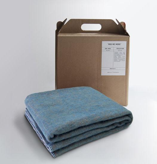 Детский плед-одеяло из 100% овечьей шерсти