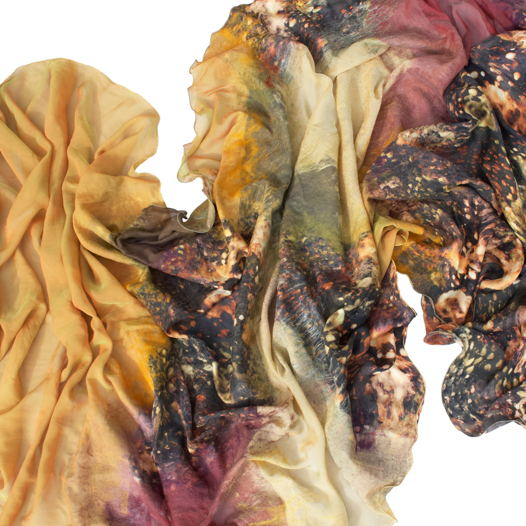 Шелковый шарф Космический