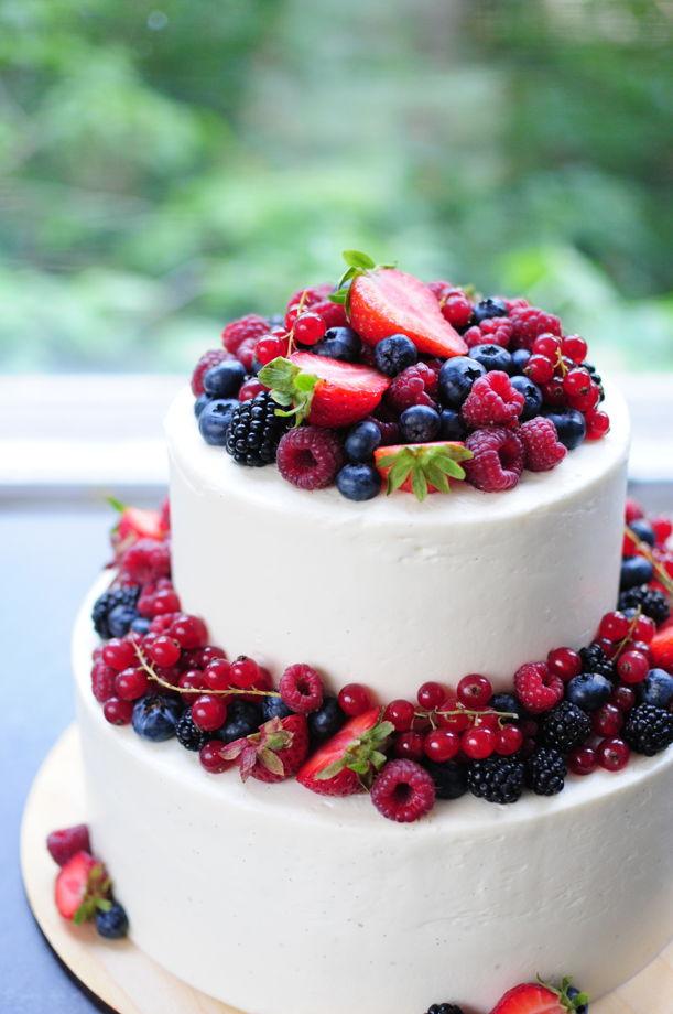 Двухъярусный торт (одинаковые начинки в ярусах)
