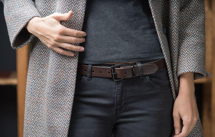 Женский ремень для джинс, модель Browny Black