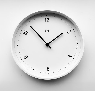 Часы деревянные настенные - ARRO / авторский дизайн и изготовление / Артикул: B&W-S-14B