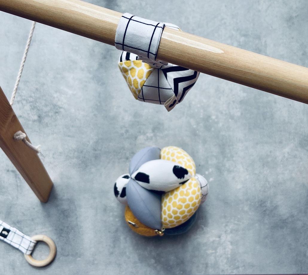 """Сет мяч Такане  разнофактурный  + подвес воздушный шар BYYY  """"MULTY GRAY MUSTARD"""""""