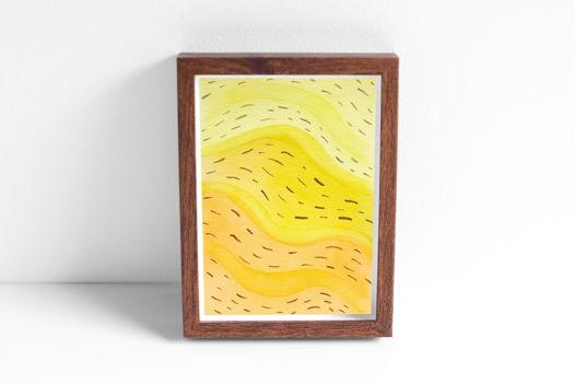 """Акварельный рисунок """"Оранжево-желтый поток №2"""""""