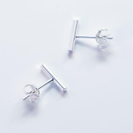 Серьги гвоздики мини палочки «Геометрия»