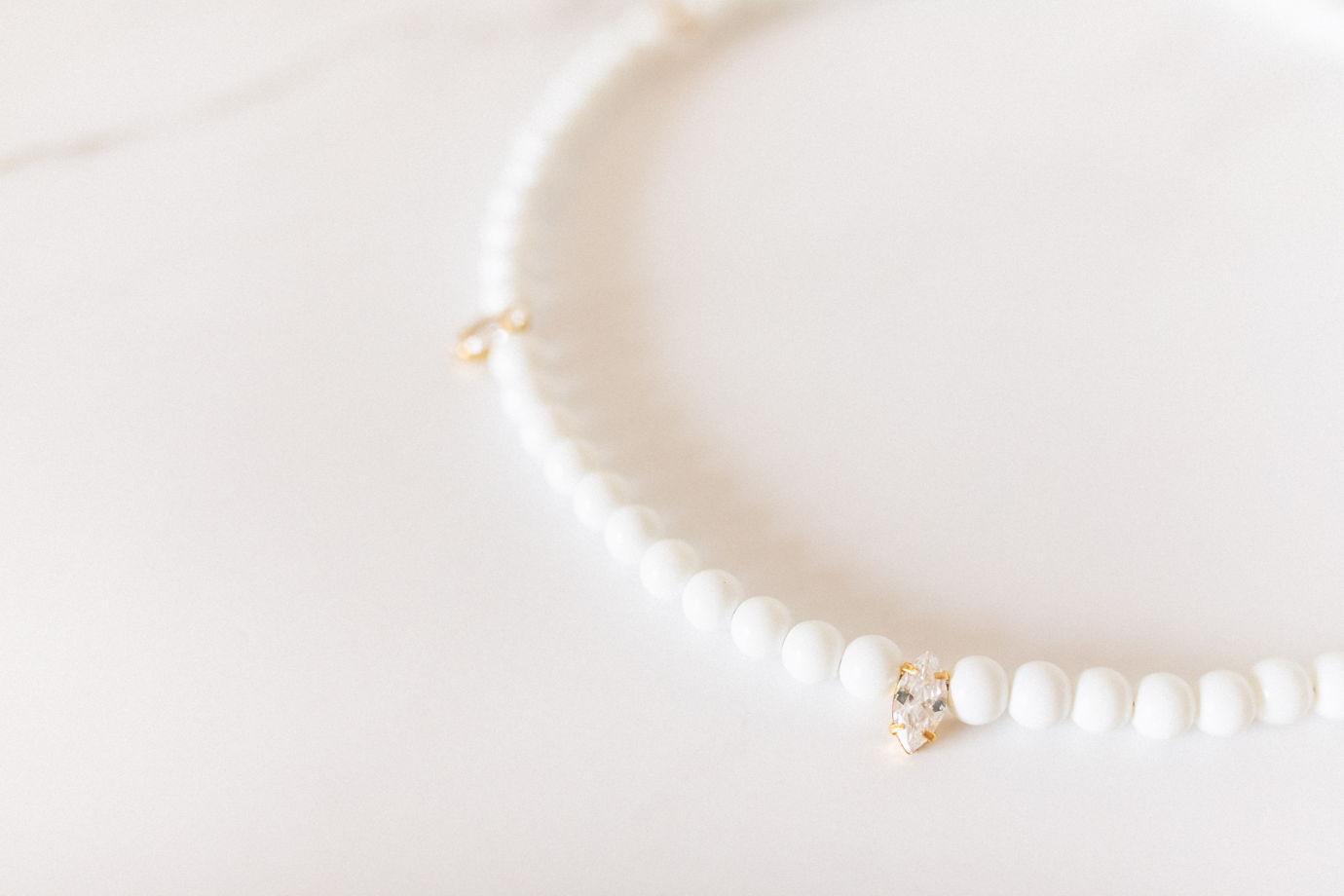 La perla de la hoja - украшение на шею