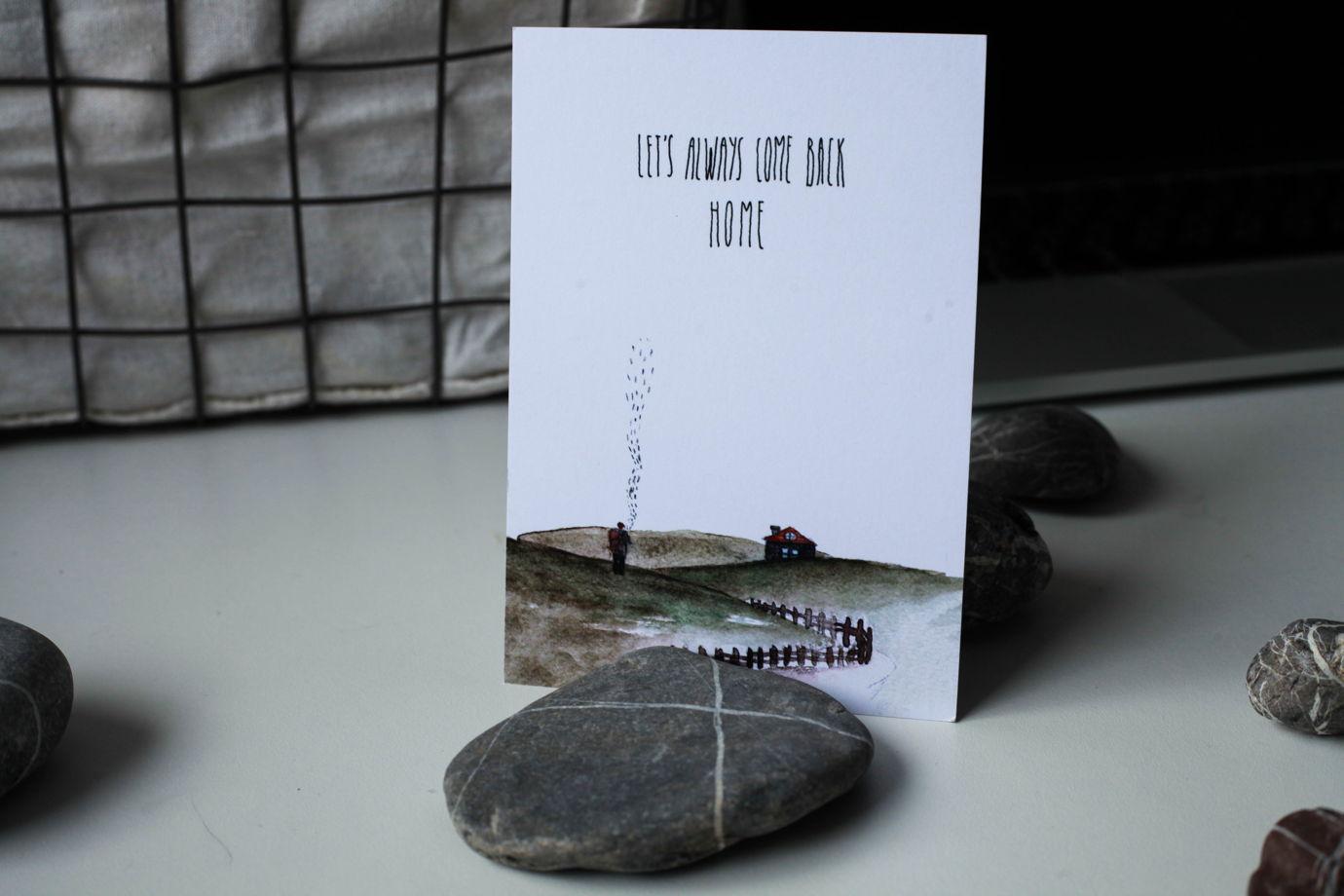 """Набор открыток """"LET'S"""" (горы, лес и дом)"""