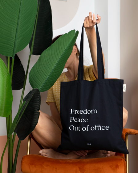 """Сумка шопер """"Out of office"""" black"""