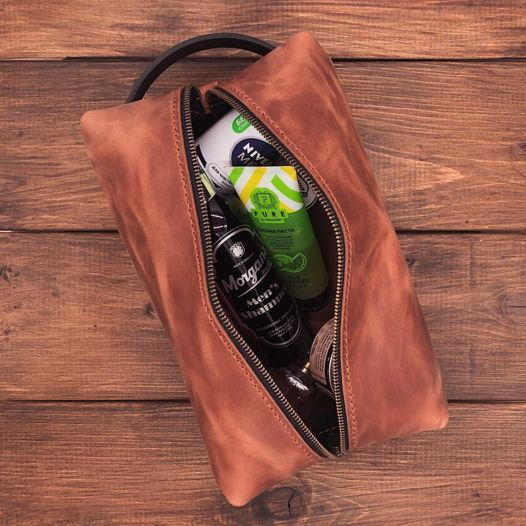 Несессер из натуральной кожи Коломбо L - цвет виски