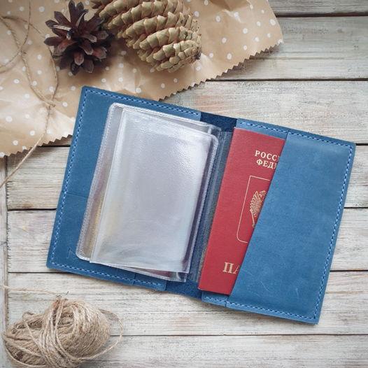 Обложка для автодокументов и паспорта Eel Blue