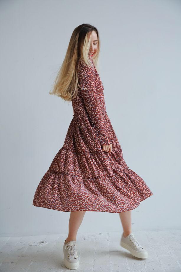 Платье Léa в кантри стиле с длинным рукавом