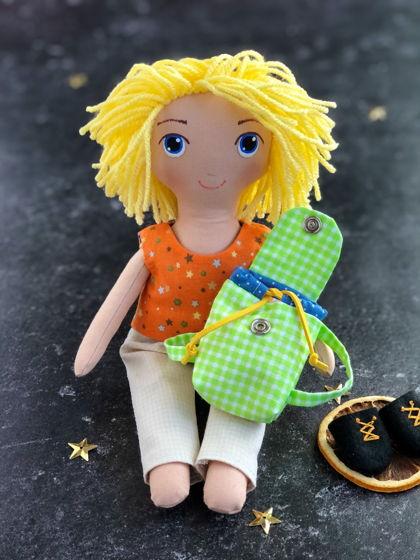 """Текстильная кукла мальчик """"Блондин"""""""
